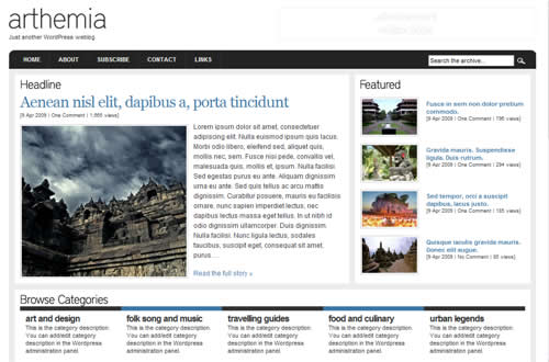 Wordpress Arthemia theme by michaelhutagalung.com
