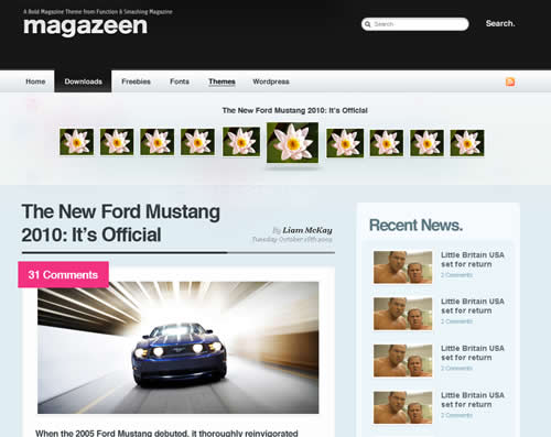 Free WordPress Magazeen Theme by smashingmagazine.com