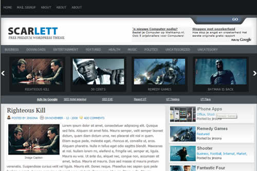 Free scarlett theme by web2feel.com